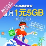 5G特惠流量包首月1元